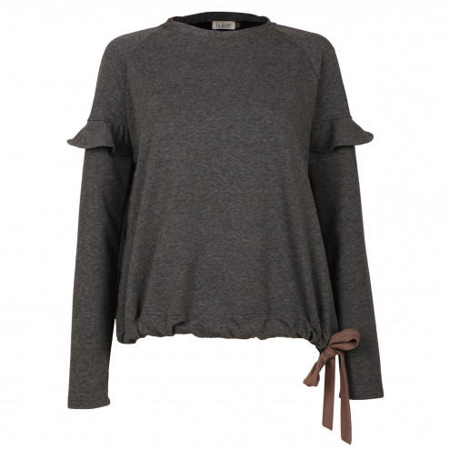 Female thin grey leisure casual top PARIS