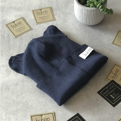BEAR BLUEBERRY doublelayered beanie