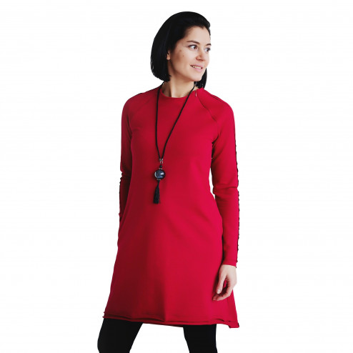 Female stylish dress MONACO Raspberry (shorter)
