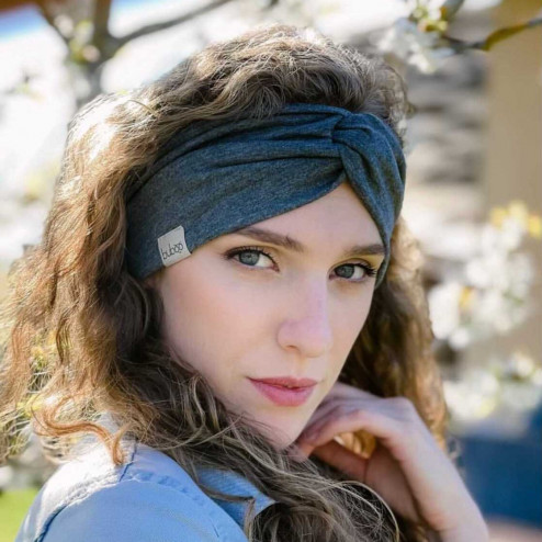 Stylish headband SIMPLE, Grey Dandelion
