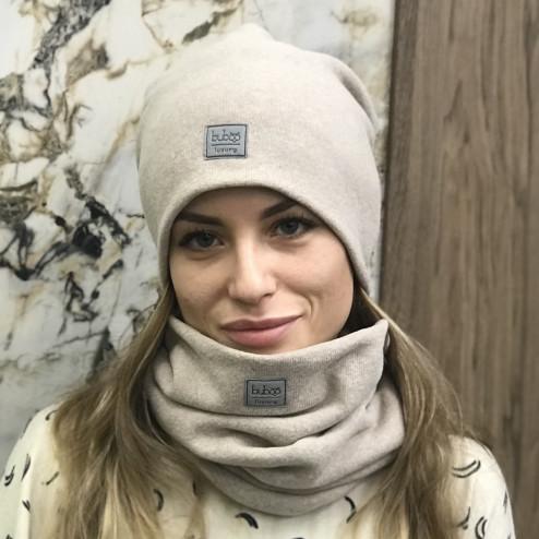 Moteriška kepurė rudeniui žiemai - Latte