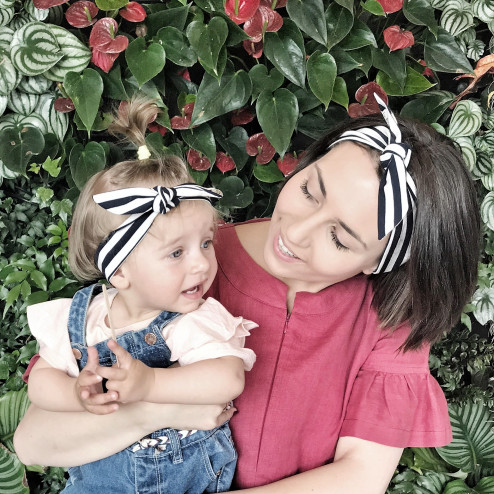 Stylish knotted headband KNOT, Stripes