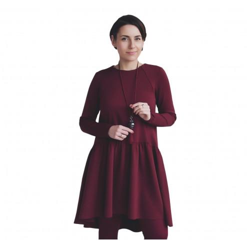 Moteriška patogi ir stilinga suknelė VENEZIA Burgundy