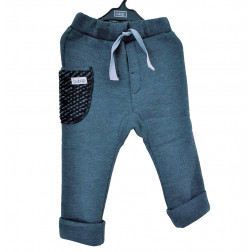 Šilltos kelnės POCKET, pilkos su tamsia vilnone kišene