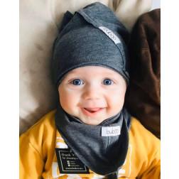 Vaikiška plona kepurė UPSIDEDOWN - pilka pienė