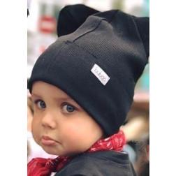 BEAR ANGLIS dviguba kepurė, juoda