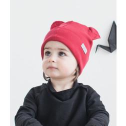 Vienguba kepurė BEAR vyšnia
