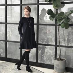 Moteriška prabangi suknelė ROMA Juoda
