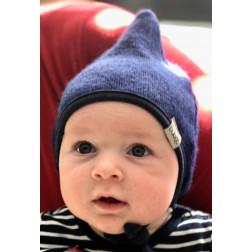 Vaikiška dviguba kepurė su raišteliais rudeniui/žiemai DROP Rugiagėlė