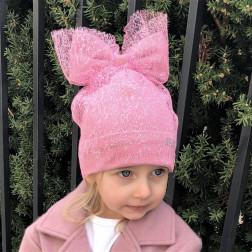 Ypatingai stilinga kepurė su tinkleliu FASHIONISTA rožinė