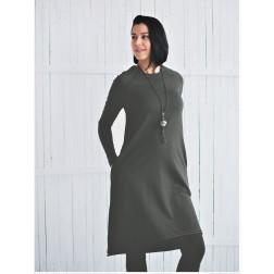 Moteriška patogi ir stilinga suknelė MONACO Antracitas