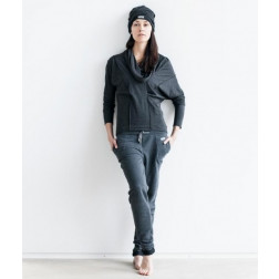Moteriškos pilkos kilpinės laisvalaikio kelnės PARIS