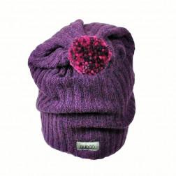 GNOM dviguba vilnonė kepurė baklažanas