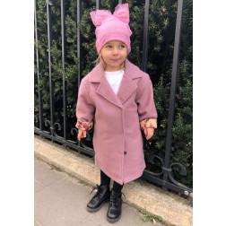 Mergaitiškas rožinis paltukas FASHIONISTA
