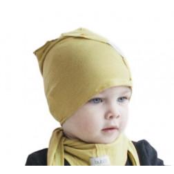 Vaikiška plona kepurė UPSIDEDOWN - citrina