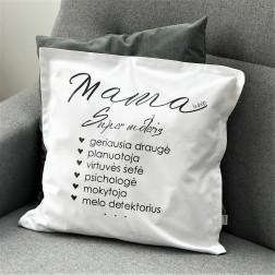 Interjero pagalvė MAMA, balta