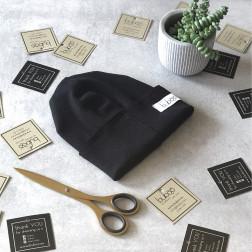 Vaikiška dviguba kepurytė TRENDY juoda