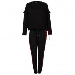 Moteriškos stilingos ir patogios kelnės MONTREAL Juoda/Burgundy