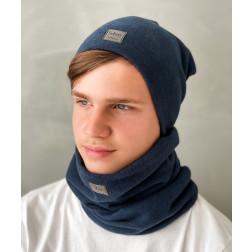 Vaikiška kepurė rudeniui žiemai pavasariui BUBOO luxury - Mėlyna
