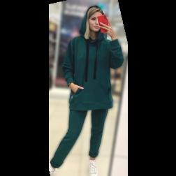 Moteriškos stilingos laisvalaikio kelnės BUBOO active, smaragdas