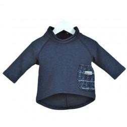 Bliuzė POCKET mėlynių vilnone kišene (nauja)