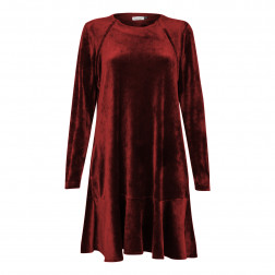 Moteriška prabangi suknelė ROMA bordo aksominė