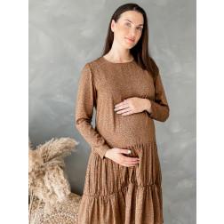 Moteriška suknelė ilgomis rankovėmis WOW, rudas leopardas