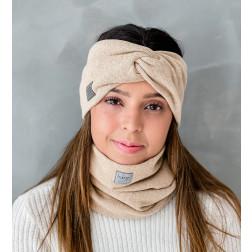 Stilinga moteriška galvajuostė pavasariui / rudeniui / žiemai, Smėlis