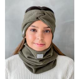 Stilinga moteriška galvajuostė pavasariui / rudeniui / žiemai, Chaki