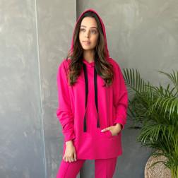 Moteriškas stilingas laisvalaikio džemperis BUBOO active, arbūzas
