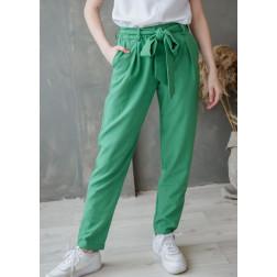 Moteriškos stilingos kelnės su dirželiu TAHO, žalia