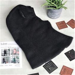 Stilingas patogus HELMET rudeninis žieminis moheros vaikiškas šalmukas su ausytėm juodas
