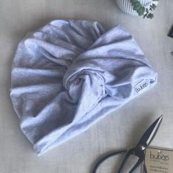 Vasarinė plona kepurė turbanas KNOT pilkas - MIST