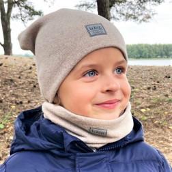 Vaikiška kepurė rudeniui žiemai pavasariui BUBOO luxury - Latte