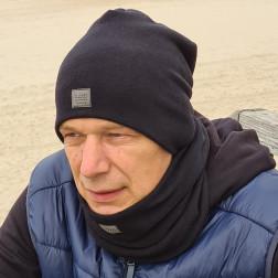 Vyriška kepurė rudeniui žiemai - Juoda