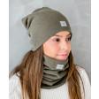 Moteriška kepurė rudeniui žiemai - Chaki