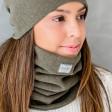 Stilinga moteriška mova - šalikas rudeniui / žiemai - Chaki
