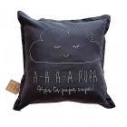 Interior pillow with print AA PUPA, dark grey