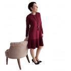 Moteriška patogi ir stilinga suknelė GENEVA Burgundy Long