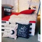 Interior pillow with print MYLIU TAVE, turkio