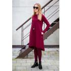 Moteriška patogi ir stilinga suknelė MONACO Burgundy