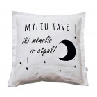 Interior pillow with print MYLIU TAVE, white