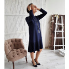 Moteriška patogi ir stilinga suknelė GENEVA Karališka mėlyna ilga