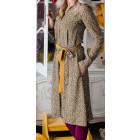 Įspūdinga ir stilinga marga LIMITED EDITION kapsulinės kolekcijos suknelė PARIS garstyčių mazgai