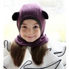Kids spring/fall helmet BEAR eggplant