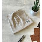 Vienguba kepurė BEAR latte blizganti