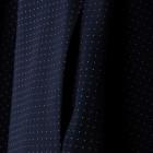 Taškuota saulės kliošo suknelė MARSELIS tamsiai mėlyna su paslėptu užtrauktuku ir dirželiu