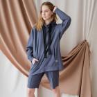 Moteriški stilingi laisvalaikio šortai BUBOO active, mėlyna - indigo