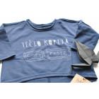 TĖČIO KOPIJA mėlyni marškinėliai ilgomis rankovėmis
