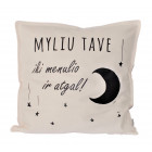 Interior pillow with print MYLIU TAVE, champagne